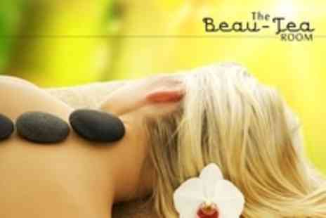 The Beau Tea Room - 75 Minute Full Body Massage with Hot Stone or Swedish For One - Save 28%