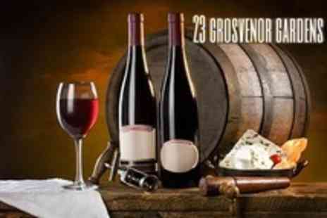 23 Grosvenor Gardens - Cheese Platter and Wine For Two - Save 54%