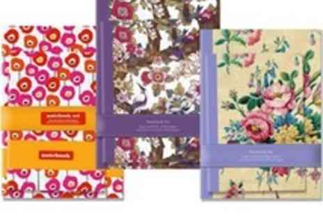 The Art File - Beautiful matching A4 and A5 notebook set 3 designs to choose - Save 62%