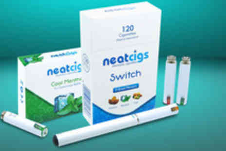 Neat Cigs - SWITCH electronic cigarette starter kit in black or white equivalent to 320 cigarettes - Save 67%