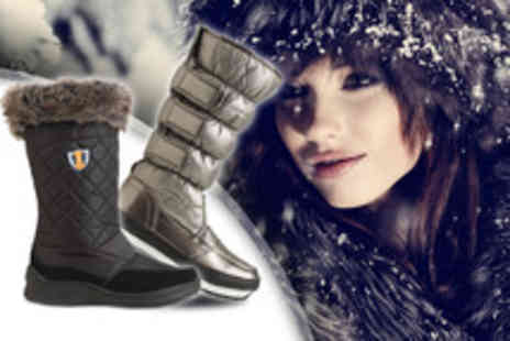 Derby House - Pair of Sno Polar boots in black or silver - Save 60%