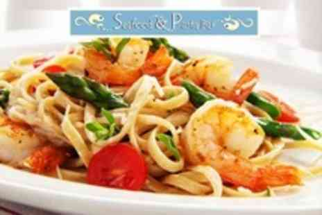 Seafood and Pasta Bar - Three Course Meal For Two - Save 61%