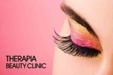 Therapia Beauty Clinic - Semi Permanent, Individually Applied Eyelash Extensions Plus Brow Wax and Tint - Save 67%