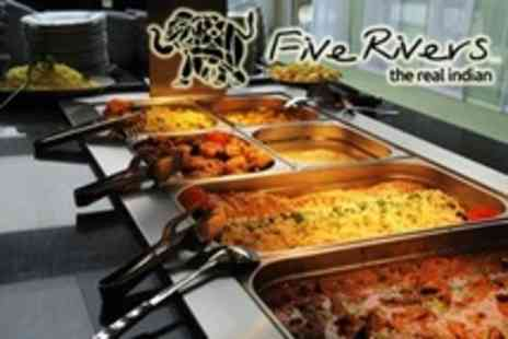 Five Rivers - All You Can Eat Indian Buffet Lunch For Two - Save 50%