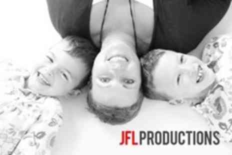 JFL Productions - Photoshoot For Up to Four People With Two High Resolution Digital Images - Save 50%