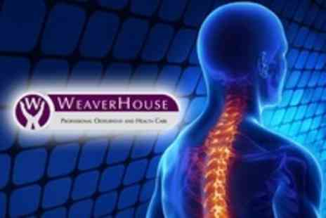 WeaverHouse - Osteopathy Two Treatments - Save 77%