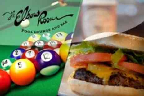 The Elbow Room - Burger With Beer or Wine Plus American Pool - Save 62%