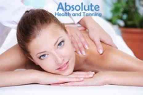 Absolute Health and Tanning - Pamper Session Massage or Facial Plus Mani Pedi - Save 69%