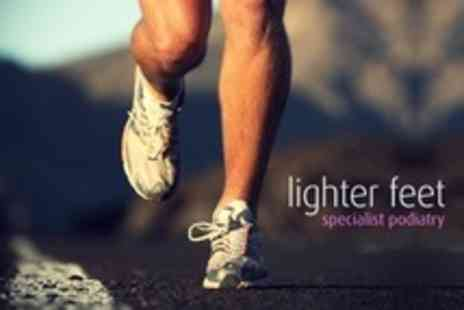 Lighter Feet - Podiatric Biomechanical Assessment Plus Gait Analysis - Save 56%