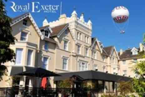 The Royal Exeter Hotel -  One or Two Night Stay For Two With Breakfast and Dinner - Save 59%