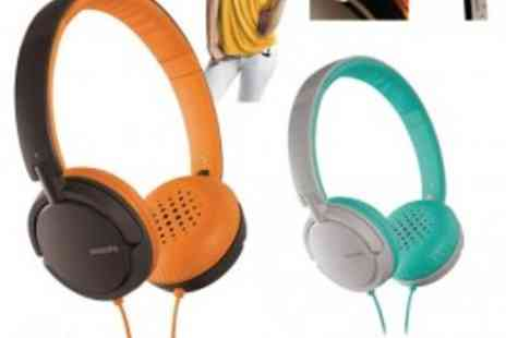 Philips - Superb Sounding Stylish Philips Headphones - Save 75%