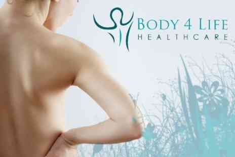 Body 4 Life Healthcare - Four Chiropractic Sessions With Consultation, sEMG Scan and Thermography Spine Scan plus Massage Therapy for £39 - Save 81%
