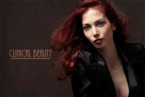 Clinical Beauty - Wash, Cut and Blow Dry Plus Half Head Highlights or Full Head Colour - Save 62%
