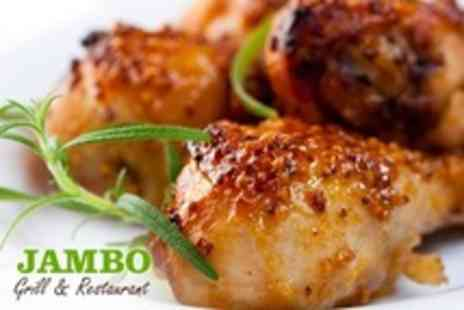 Jambo Grill - Jerk Chicken For Two With Sides and Beer - Save 51%