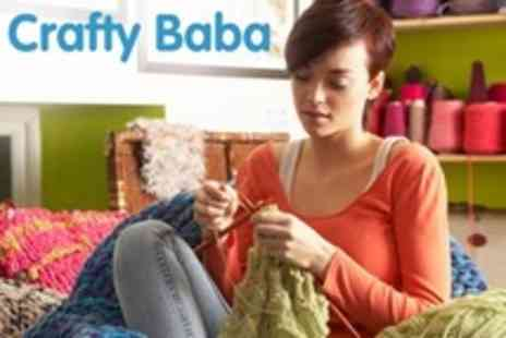 Crafty Baba - Beginners or Improvers Knitting Class - Save 50%