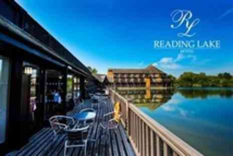 Reading Lake Hotel - One Night Stay For Two With Bottle of Wine and Breakfast - Save 53%