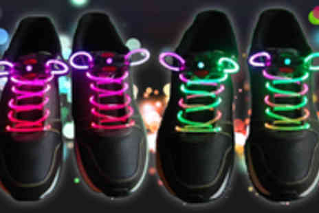 Quirky Online - Two Pairs of LED Shoelaces - Save 62%