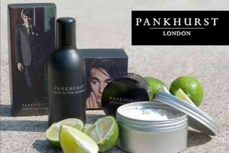 Pankhurst London - Head to Toe Shampoo, Professional Shaving Cream and Aftershave Ice Gel - Save 72%