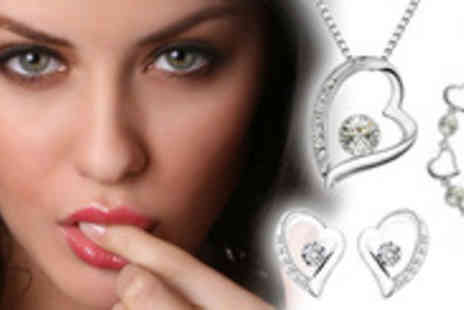 Antwerp Jewels - Forget saying it with flowers, say it with a Crystal Heart Trio Set - Save 88%