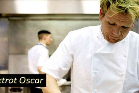 Foxtrot Oscar - A Two Course Set Menu with Glass of Wine for Two People - Save 25%