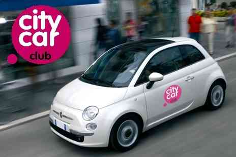 City Car Club - £18.50 instead of £60.40 for a year's membership to City Car Club plus 2 hours free driving - Save 69%