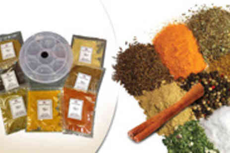India Bazaar - Enjoy authentic Indian food cooked by you with 7 spices plus storage tin - Save 60%