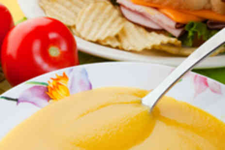 The Cove - Soup and Bread Roll with Hot Drink for Two - Save 54%