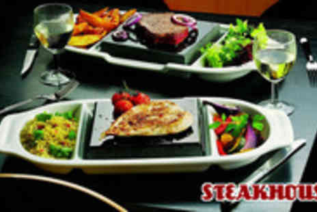 Steak House - Take a break with an amazing steak dinner for two including a glass of wine - Save 57%