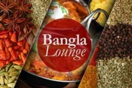 Bangla Lounge - Two Course Indian Meal With Rice, Naan and Poppadums For Two - Save 62%
