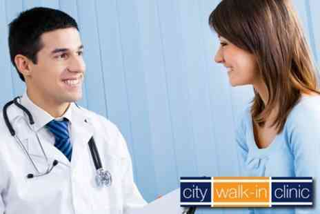 City Walk-in Clinic - Comprehensive Head to Toe Medical Assessment plus a GP Consultation including a Full Blood Profile for £69.99 - Save 77%