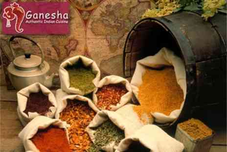 Ganesha - Authentic Indian Meal for Two with Choice of Rice and Drink for £20 - Save 56%