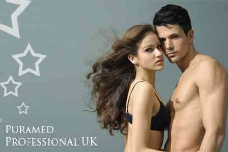 Pura Med UK - Six Laser Hair Removal Treatments on One Large or Two Small Areas - Save 87%