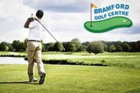 Bramford Golf Centre - All Day Golf for Two With Bucket of Range Balls Plus Tea or Coffee - Save 61%