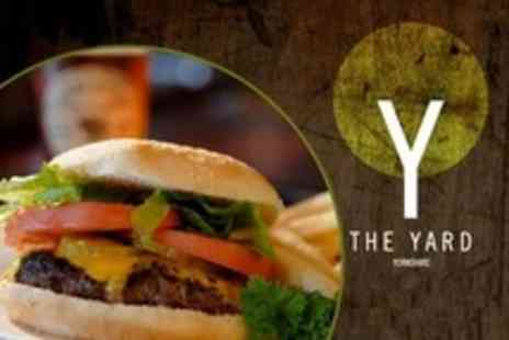 The Yard - Beef, Chicken or Veggie Burger With Beer or Wine For Two - Save 61%
