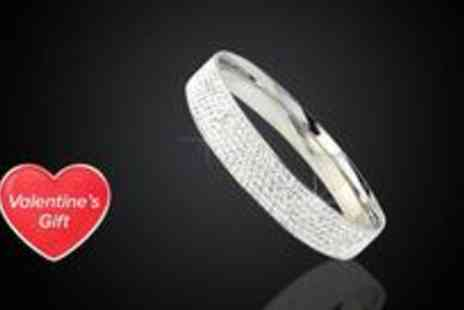 Trending Picks - Galaxy crystal bangle in white made with SWAROVSKI ELEMENTS - Save 78%
