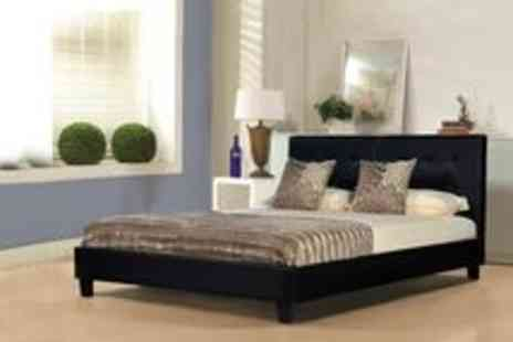GRS Global - Neptune Faux Leather Double Bed - Save 66%