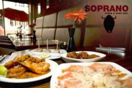 Soprano Tapas and Wine Bar - Tapas Six For Two Plus Dessert Each - Save 63%