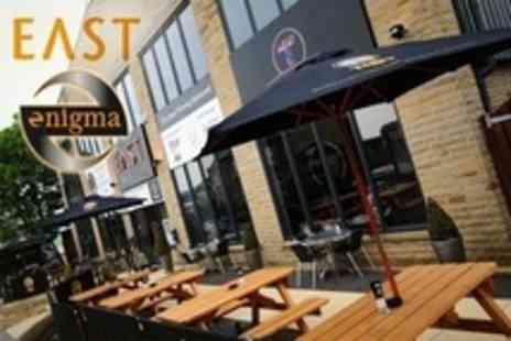 East Bar Lounge Grill - Two Course Indian Meal For Two - Save 67%