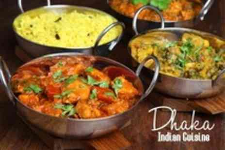 Dhaka Indian Cuisine - Two Course Indian Meal With Rice For Two - Save 25%