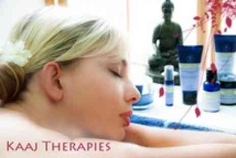 Kaaj Therapies - Aromatherapy Head, Back and Shoulder Massage Plus Mini Facial - Save 62%