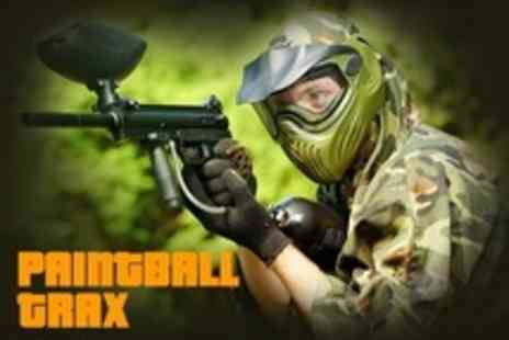 Paintball Trax - Paintballing For Two With 100 Paintballs Each - Save 78%