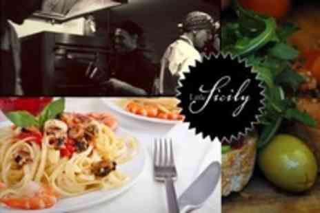 Little Sicily - Three Course Meal For Two With Glass of Wine Each - Save 66%