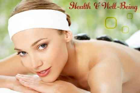 Health and Wellbeing Spa - Aromatherapy Massage or Hot Stone Massage With Luxury Facial - Save 63%