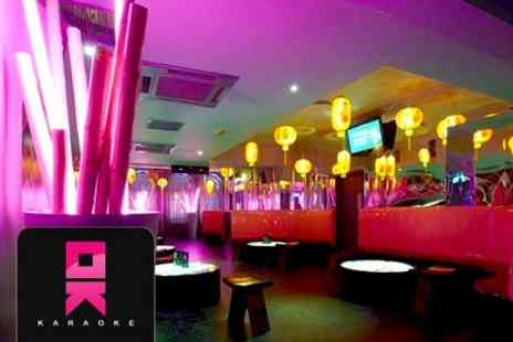 OK Karaoke - Private Karaoke Party For Up to Ten People With Platter and Shooters  - Save 85%