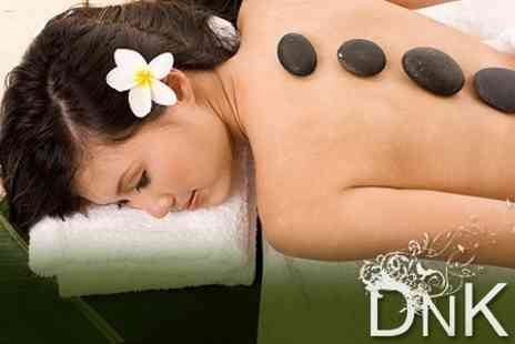 DnK Hair and Beauty Salon - Full Body Hot Stone Massage Plus Indian Head Massage for £23 - Save 62%