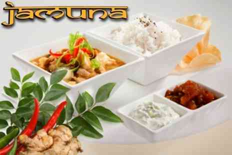 Jamuna Indian Restaurant - Two Course Indian Meal With Sides and Rice For Two - Save 65%