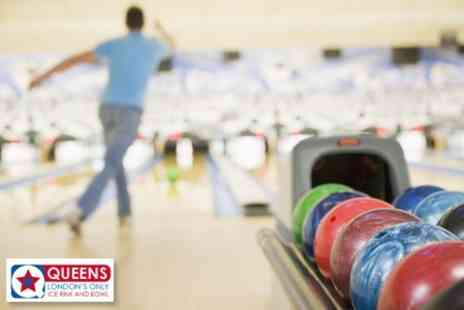 Queens Ice and Bowl - £14 for Bowling and Drinks For Four People - Save 61%