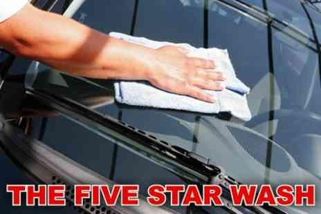 The Five Star Wash - Full Car Valet and Body Wax - Save 82%