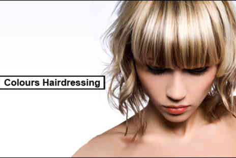 Colours Hairdressing - £12 for a cut, conditioning treatment, head massage and a blow dry worth £40 - Save 70%