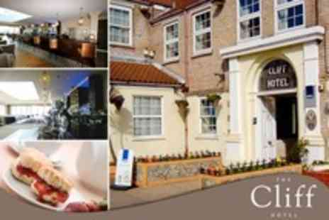 The Cliff Hotel - In Gorleston on Sea One Night Stay For Two With Breakfast and Afternoon Tea - Save 54%